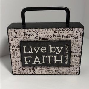 Other - Mini Sign Live By Faith w/ Handle